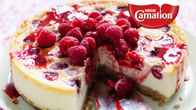 Baked Raspberry Cheesecake