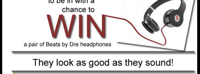 Win a pair of Beats by Dre headphones!