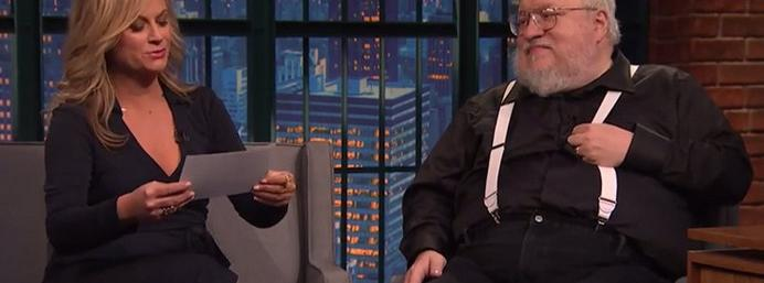 Amy Poehler quizzes George R. R. Martin on his Game of...