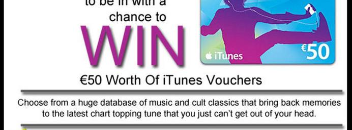 Win �50 worth of iTunes vouchers