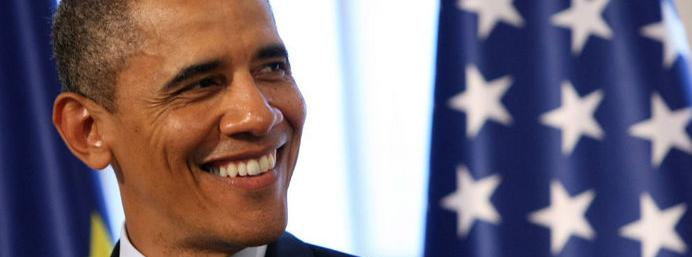 Watch Barack Obama's reaction to a guy who asks the President not to touch his girlfriend