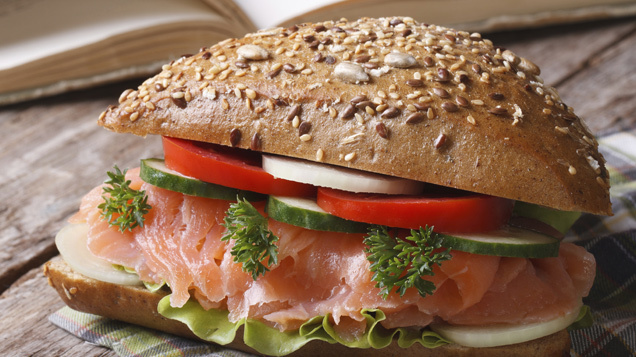 Aldi\'s hot and cold salmon starter