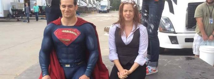 Henry Cavill takes on ice bucket challenge in Superman...
