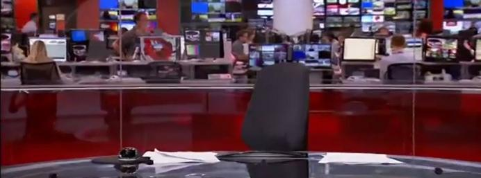 What an anchor! BBC newsreader's smooth recovery