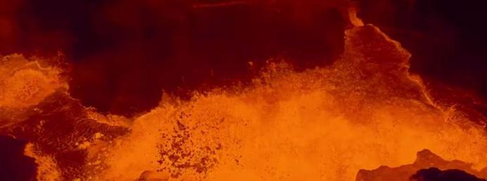 Watch: Incredible drone footage of a volcano erupting