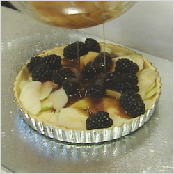 Apple & Blackberry Flan