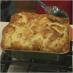 White Chocolate Bread & Butter Pudding