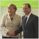 Hollande and Merkel meet