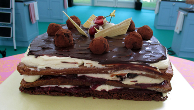 Black Gateau Inspired  Chocolate and Sour Cherry Cake
