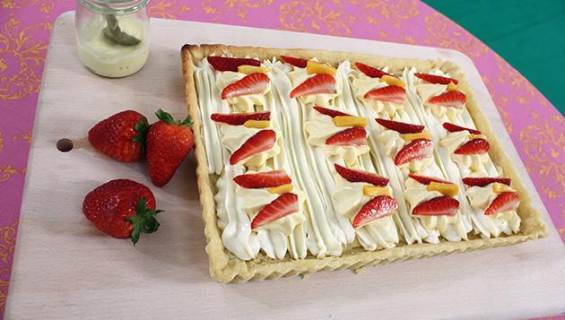 Strawberry and Mango Cream Cheese Tart