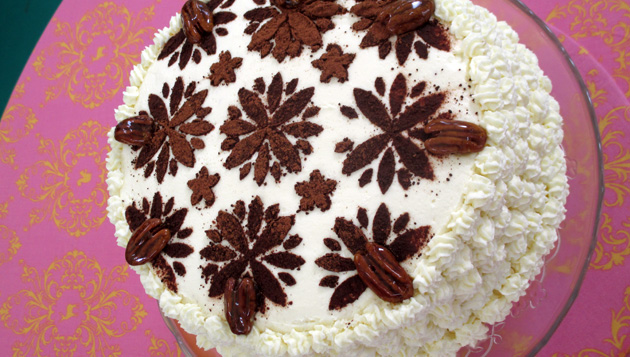 Pecan-Coconut-Chocolate Layer Cake