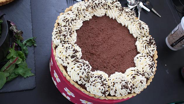 Velvet mocha tart