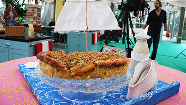 Spiced Apple & Pear, Pecan Crumble Pie-rate Ship