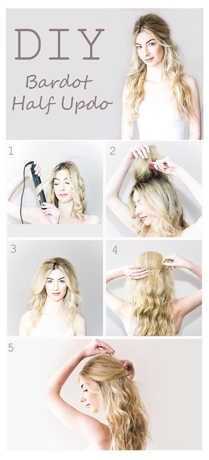 DIY Wedding Hair - Bardot Half Updo - TV3 Xposé