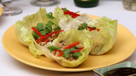 Chicken and avocado lettuce wraps