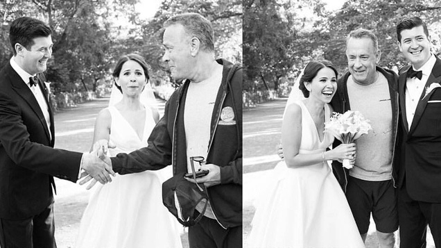 Tom Hanks Crashes Central Park Wedding Photo Shoot