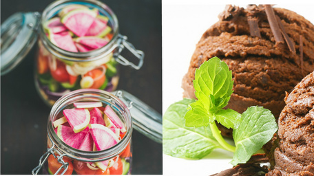 Italian Sunshine Jar and Chocolate Ice Cream