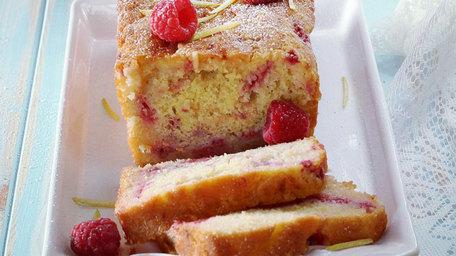 Lemon raspberry drizzle loaf