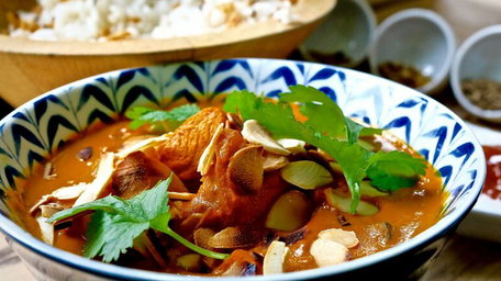 Madras Chicken Curry with Cucumber & Lime Raita