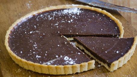 Dark Chocolate and Almond Tart