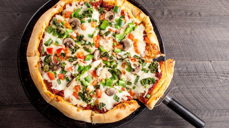 Left over Turkey and Veg Pizza