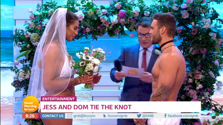 The first Love Island wedding took place this morning