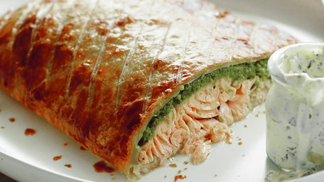 Salmon En Croute With Leeks And Cream Cheese