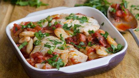 Edward's Chilli, Chicken & Chorizo Traybake