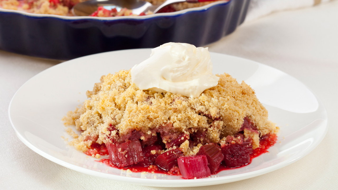 Sour and Sweet Rhubarb Crumble