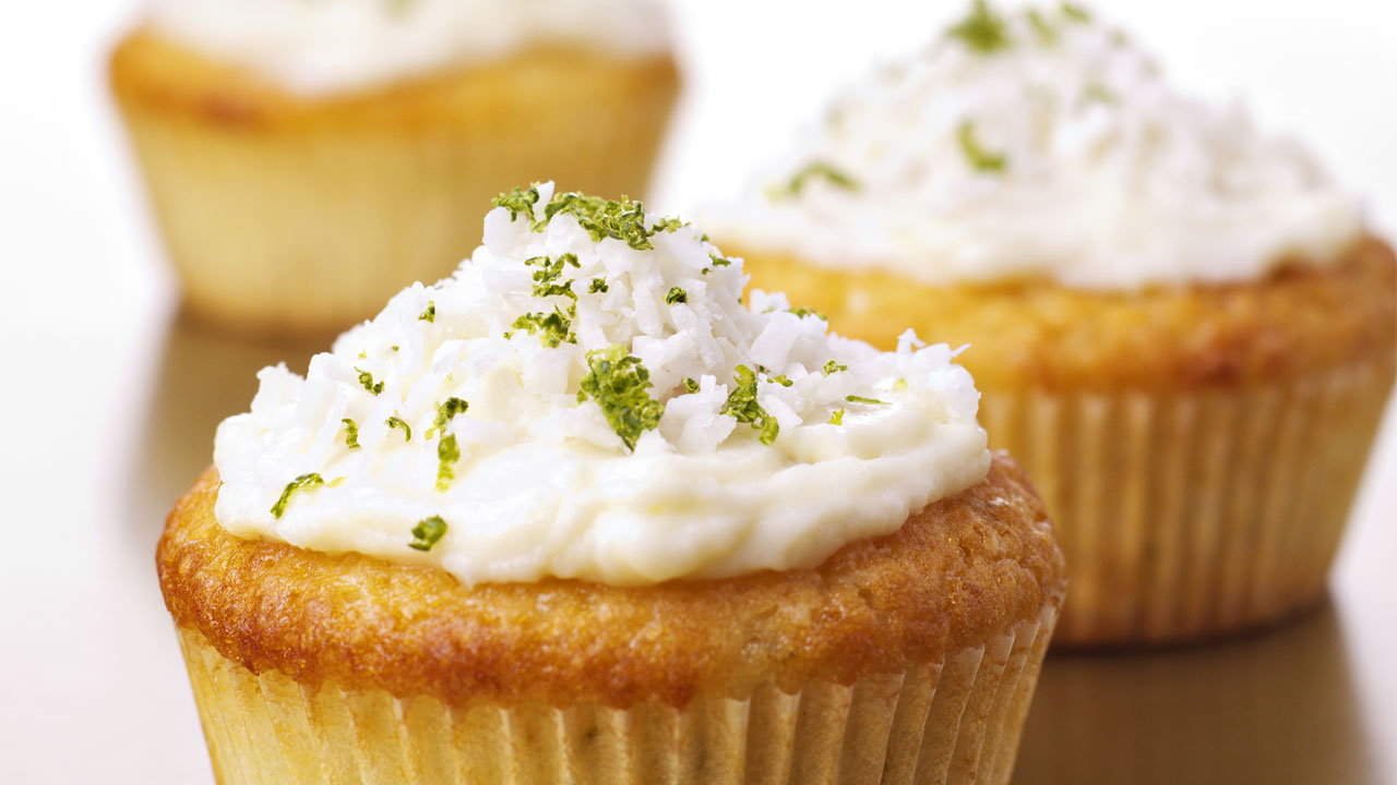 Zesty Lime & Coconut Cupcakes