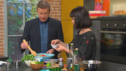 3player | Ireland AM, 07/07/2015. Chef and author Áine Carlin was a meat-and-potatoes gal until health issues convinced her to change the way she approached food. Now a vegan, she joins us now to whip up a zesty bulgar wheat and watermelon salad.