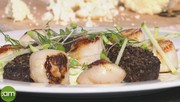 Seared King Scallops with Black Pudding