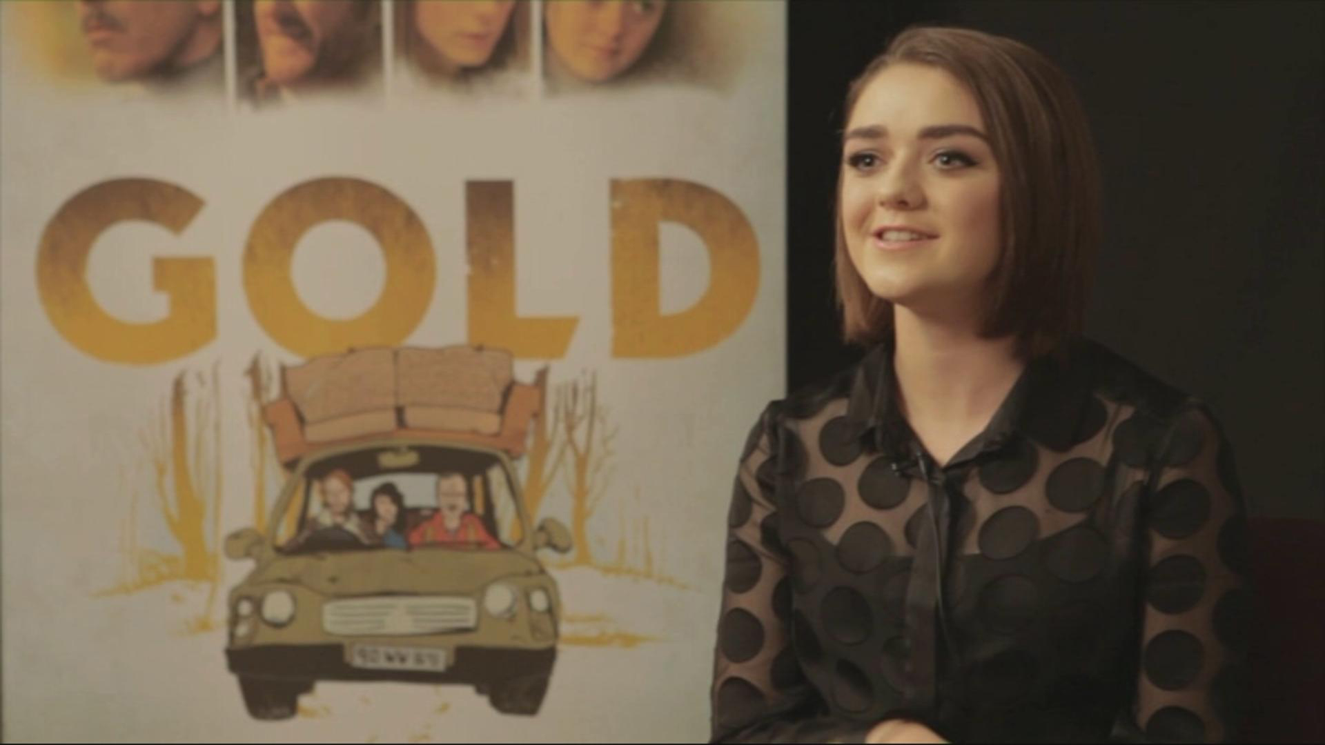 'Game of Thrones' star Maisie Williams tells 'The Entertainment Buzz' about her 'Gold' Irish role.
