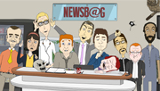 3player | NEWSB@G, 26/08/2014.  Animated satirical comedy series following a group of ruthless news reporters. The NEWSB@G trio explore Ireland with the US president upon his state visit to the Emerald Isle.
