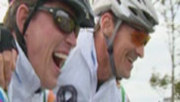3player | Against The Wind, 17/08/2014. A chance to follow the progress of cross rugby stars as they cycle from Malin to Mizen Head through Ireland's beautiful landscapes to raise funds for cancer research.