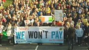 3player | Water Charges: Ireland on the March, 06/11/2014. A special programme examining the protests on Saturday 1 November in the face of the Irish government's plan to introduce household water charges for the first time